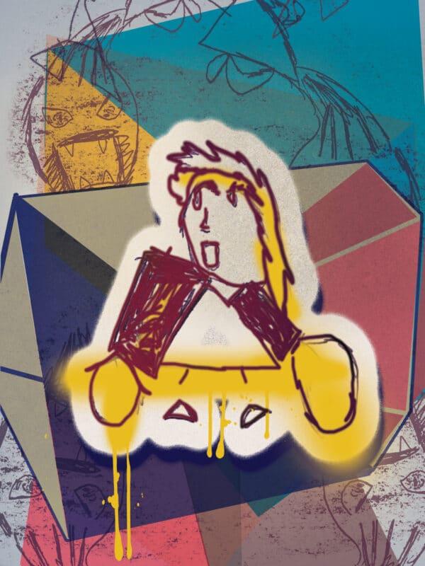 ROSE DIAMONDS, Original Artwork by Joey Antarctica
