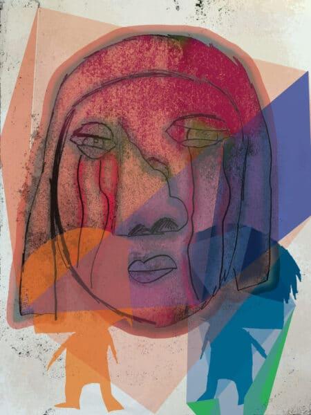 Crying Sometimes 2, Original Artwork by Joey Antarctica