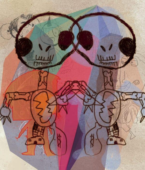 Double Skeleton